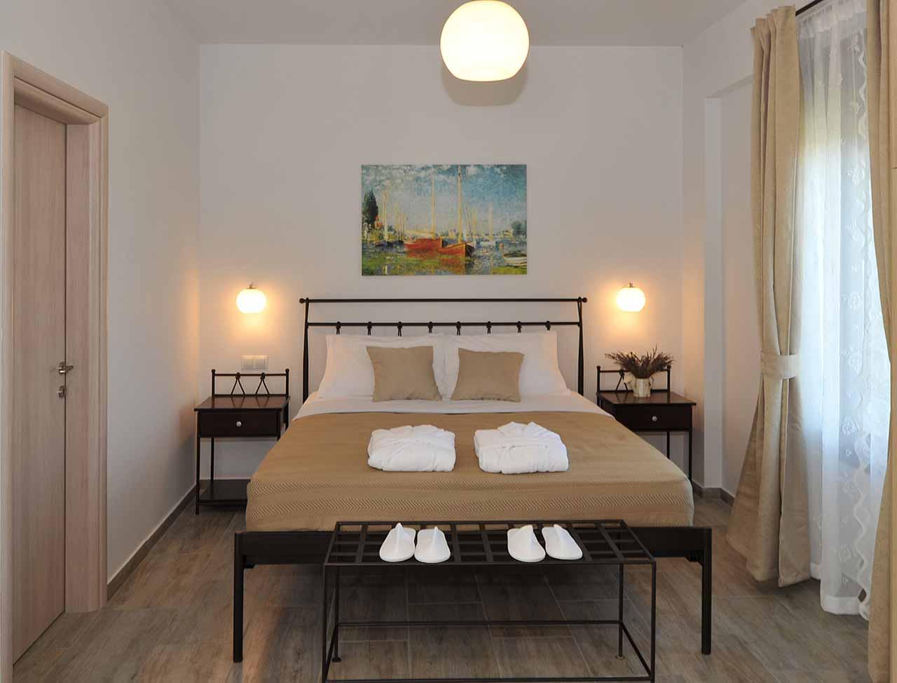 ikaria olivia villas - villa Agrelia bedroom