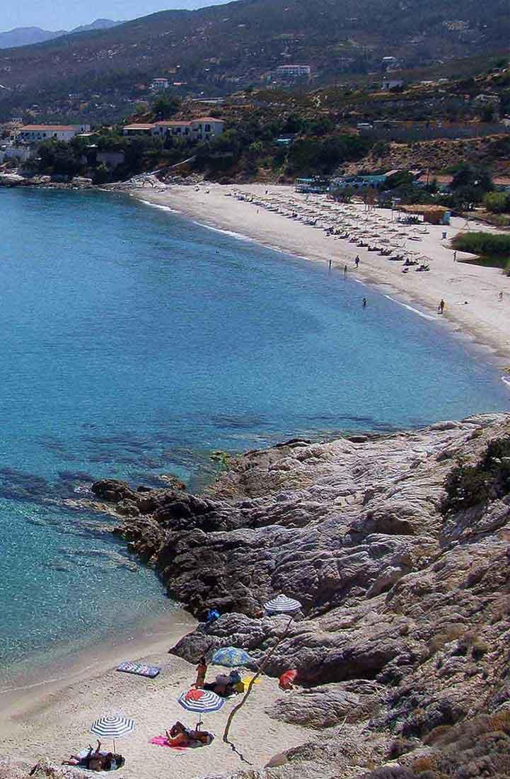 ικαρία olivia villas θέα παραλίας