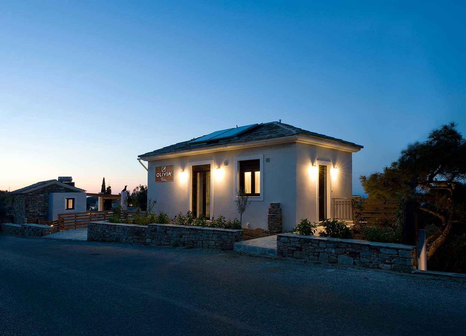 ικαρία olivia villas εξωτερικός χώρος