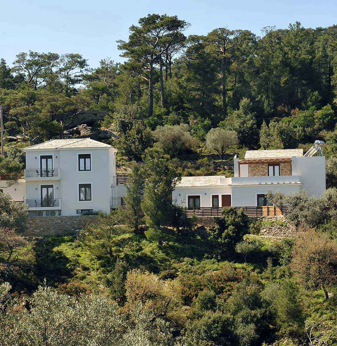 ikaria olivia villas view