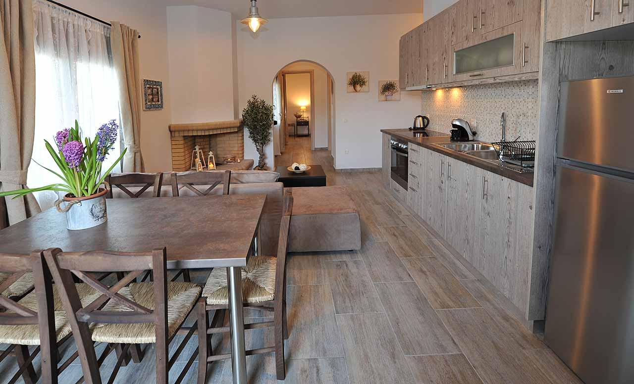 ikaria olivia villas - villa petrino kitchen photo