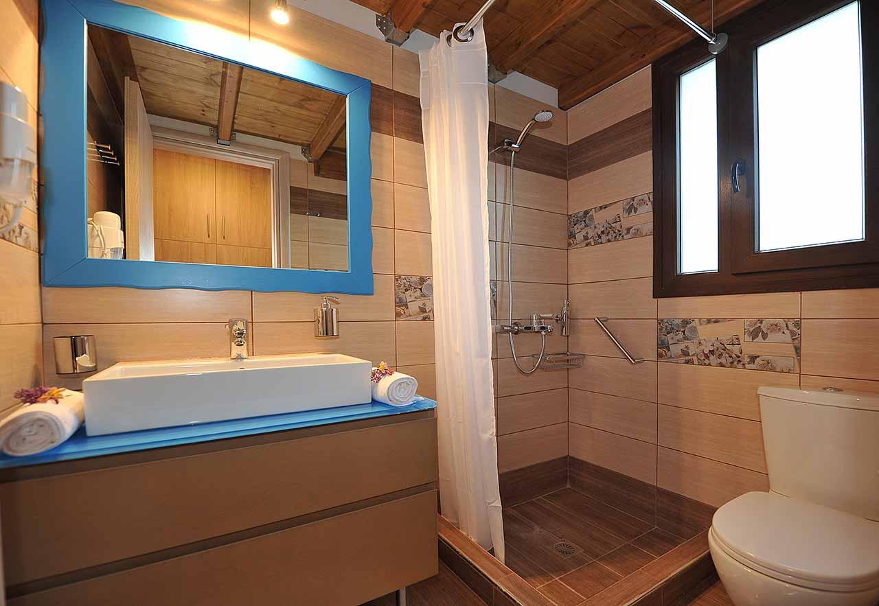 ikaria olivia villas - villa petrino bathroom image