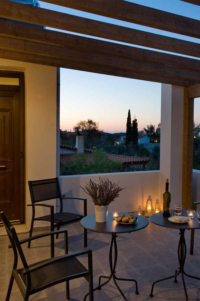 ikaria olivia villas - villa petrino balcony photo