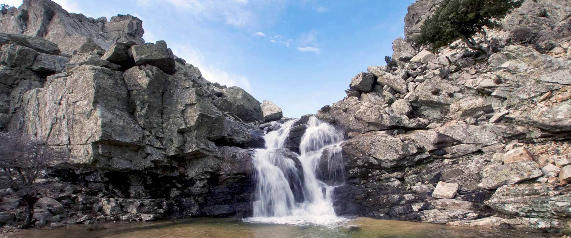 ikaria olivia villas selin waterfall image