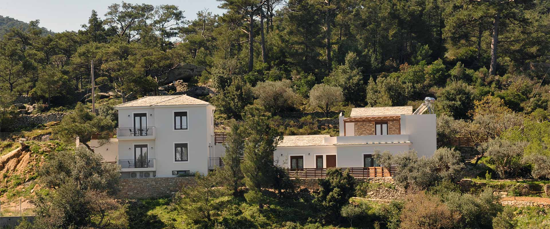ikaria olivia villas view the building